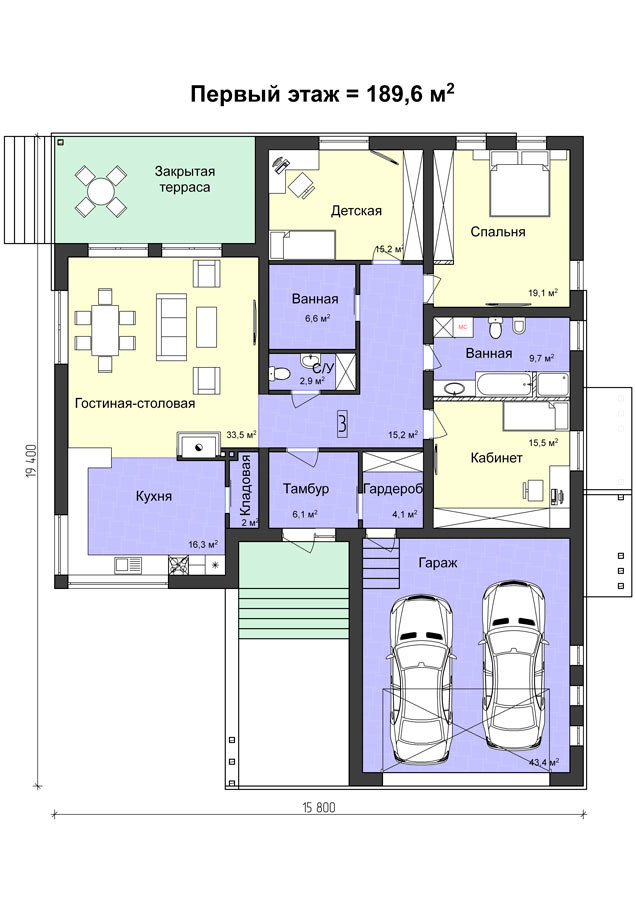 K-107 компактный дом